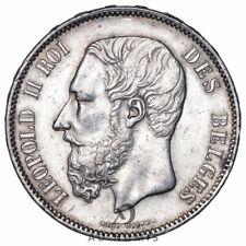 5 francs 1876 Léopold II Belgique - Argent
