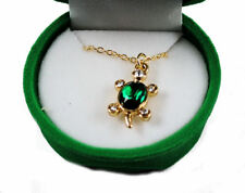 Turtle Crystal Necklace With Velour Hinged Gift Box