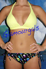New Victorias Secret Beach Sexy Neon Yellow Liya Bikini sz M / S Medium / Small