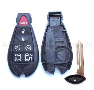 Key Shell + Key Blank fit for CHRYSLER DODGE JEEP VOLKSWAGEN Smart Remote Case