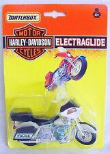 """Matchbox 1:18 HARLEY DAVIDSON ELECTRAGLIDE """"MBPD POLICE"""" Motorcycle MOC`92 RARE!"""