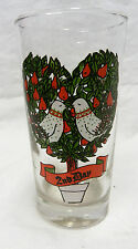 Indiana American Glass 12 Days of Christmas Beverage Glass 2nd Day Vintage