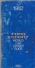 1982 vintage original car owners manual -  FORD ESCORT