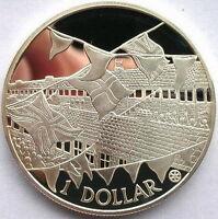 Cook 2002 Festivity Dollar Gild Silver Coins,Proof