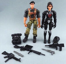 2002 GI Joe Flint & the Baroness 2-pack COMPLETE