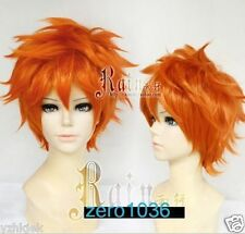 New Haikyuu Karasuno High School Volleyball Club Hinata Shouyou Short Orange Wig