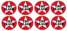 x16 40mm circular Vinyl Stickers punk clash strummer damned  laptop retro rock