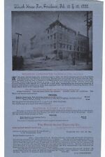 1888 ALDRICH HOUSE FIRE RUINS WALDRON NOZZLE FIREFIGHTING SUPPLY PROVIDENCE RI