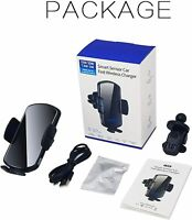 15W Fast Qi Wireless voice activated Car Charger Mount Air Vent Holder black!!