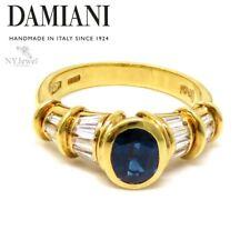 NYJEWEL Damiani 18k Yellow Gold 1.64ctw Sapphire & Diamond Ring