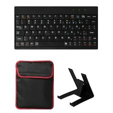 10'' inch Tablet Sleeve Bag Case With USB 2.0 Ultra Mini Keyboard & Tablet Stand