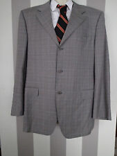 CANALI  SUIT JACKET BLAZER,48L wool, GRAY,PLAID  :)