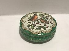 Vintage Decorative Round Floral With Birds Tin Canister by Daher Decorated Ware