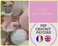 LILI le chat ballerine, Patron amigurumi, poupée CROCHET knitting Pattern PDF