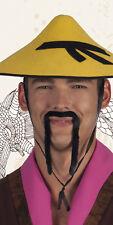 Bart langer Schnurrbart Chinese Karneval Fasching