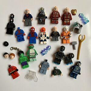 Genuine Lego Super Heroes Minifigures, Accessories, Spares etc. Marvel DC Bundle