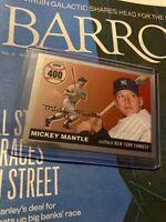 Mickey Mantle Yankees Major League Baseball MLB 2007 Topps #MHR400 HOF NR Vg