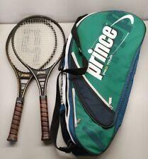 2X Prince Pro Tennis Racquet 4 1/4 grip With Prince Pro Tour Bag