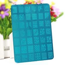 Nail Polish Art Beauty Flower Design Template Stencil Stamping Printing Plate