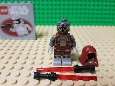 LEGO STAR WARS SITH WARRIOR MINIFIFURE NEW / OLD REPUBLIC  JEDI DEFENDER 75025