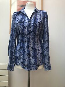 White House Black Market Silk Blouse Size 8