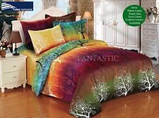 RAINBOW TREE Super King Size Bed Duvet/Doona/Quilt Cover Set New
