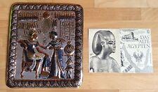 Metallbild Reliefbild - Handarbeit aus Ägypten - 80er Jahre - Silber, Kupfer