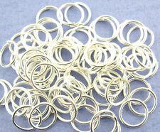 20 Biegeringe 7mm x 0,5mm open jump ring Federring Verbindungsring versilbert