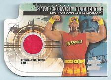 HULK HOGAN 2002 FLEER WWE VS SMACKDOWN EVENT WORN JERSEY SHIRT