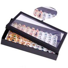 Ring Ear Pin Clear Display Box Jewelry Organizer Holder Storage Case 100 Slots