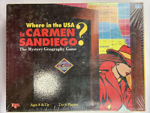 Vintage 1993 Where in the USA is Carmen Sandiego Board Game New Sealed RARE