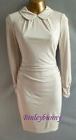 New KAREN MILLEN Ivory Collared Jersey Dress BNWT Size 10 12 14 16 Long Sleeve