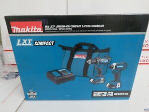 Makita Combo Kit Driver Drill Impact Driver 18V Lithium-Ion CT225SYX