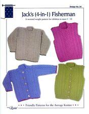 Jack's 4-In-1 Fisherman Design by Louise Knitting Pattern #54 Children 1-12