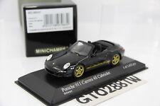 Minichamps 1:43 Porsche 911(997) Carrera 4S Cabriolet / Cabrio 2006(Black/Gold)