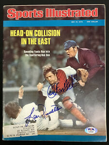 Carlton Fisk Signed Sports Illustrated 5/31/76 Baseball Piniella Auto PSA/DNA