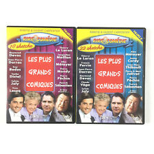 Les plus grands comiques Lot 2 DVD Volume 1 et 2 Thierry Le luron, Raymon Devos