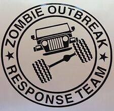 Zombie Outbreak Response Unit - Jeep TJ -  Custom vinyl sticker / decal