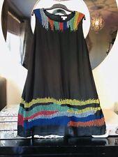 BNWOT MONSOON BLACK BEAD EMBELLISHED TUNIC DRESS SIZE 22/24