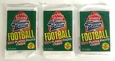 Fleer Premiere Edition 1990 NFL Football Card Pack New lot of 3