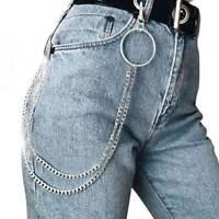 Men's Hip Hop Biker Rock Trucker Keychain Pants Jean Wallet Waist Chain Decor LH