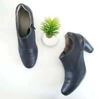 ECCO Sculptured 65 Bootie Black Leather Heels Pumps Womens Shoes Size 41 10-10.5