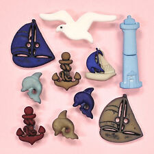 Buttons Galore Set Sail 4264 - Sailing Dolphin Light House Anchor Dress it Up