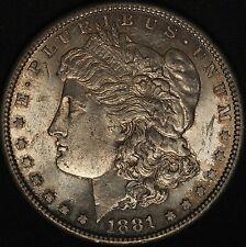 1881-S Morgan Silver Dollar - Great Luster & Original Toning - Free Shipping USA