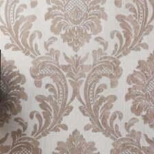 Italian Vinyl Glitter Damask Rose Gold. Fine Decor MILANO Wallpaper M95595