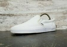 Vans Slip On Athletic Shoes Womens Sz 8.5 Mens Sz 7 White Perforated Leather