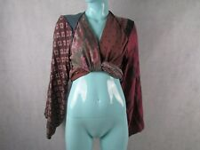 Maison Martin Margiela for H&M silk wrap gypsy multi-coloured top UK8