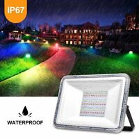 100W LED RGB LED Flood Light Spotlight Outdoor Landscape Waterproof Lamp Party