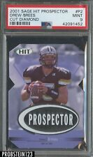 2001 SAGE HIT Prospector Cut Diamond Drew Brees RC Rookie /99 PSA 9 Saints