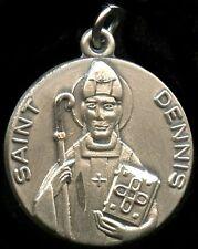 Saint Dennis Religious Pendent Sterling Silver